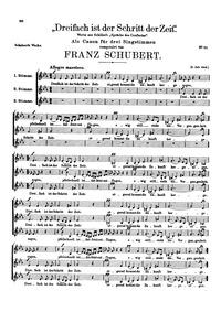 Dreifach ist der Schritt der Zeit, D.69 ... Volume D.69 by Schubert, Franz