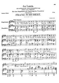 An Laura, als sie Klopstocks Auferstehun... Volume D.115 by Schubert, Franz