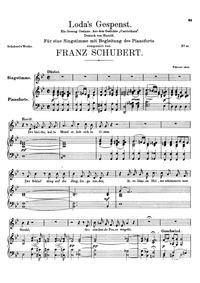 Loda's Gespenst, D.150 (Loda's Ghost) : ... Volume D.150 by Schubert, Franz