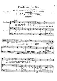 Furcht der Geliebten (An Cidli), D.285 (... Volume D.285 by Schubert, Franz