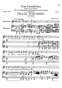Dem Unendlichen, D.291 (To The Infinite ... Volume D.291 by Schubert, Franz