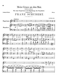 Mein Gruss an den Mai, D.305 (My Greetin... Volume D.305 by Schubert, Franz