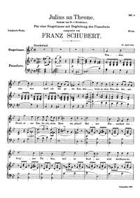 Julius an Theone, D.419 (Julius to Theon... Volume D.419 by Schubert, Franz