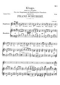 Klage (An den Mond) (Lament (To the Moon... Volume D.436 by Schubert, Franz