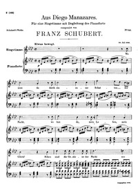 Aus Diego Manazares, D.458 (Ilmerine) : ... Volume D.458 by Schubert, Franz