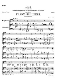Contentment : Voice + piano score Volume D.501 by Schubert, Franz