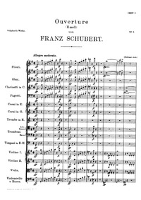 Overture in E minor, D.648 : Full score Volume D.648 by Schubert, Franz