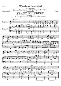 Wayfarer's Night Song II : Complete scor... Volume D.768 (Op.96 No.3) by Schubert, Franz