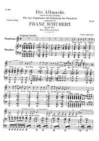 Die Allmacht, D.852 (Op.79 No.2) (The Al... Volume D.852 (Op.79 No.2) by Schubert, Franz