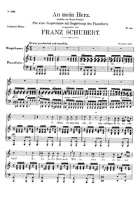 An mein Herz, D.860 (To My Heart) : Comp... Volume D.860 by Schubert, Franz
