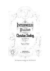 8 Intermezzi, Op.65 : Book II: Nos. 5-8 Volume Op. 65 by Sinding, Christian