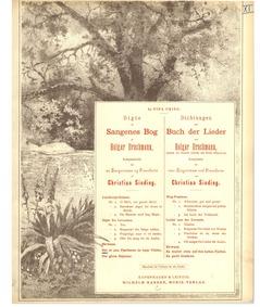 Digte af Sangenes Bog (Dichtungen aus Bu... Volume Op.13 by Sinding, Christian