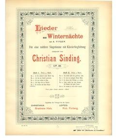 Lieder aus Winternächte, Op.26 : 5. Da d... Volume Op.26 by Sinding, Christian