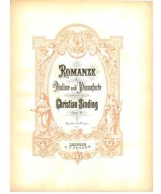 Romance in E minor, Op.30 : Complete Sco... Volume Op.30 by Sinding, Christian