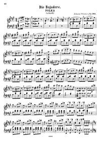Die Bajadere, Op.351 : Complete score Volume Op.351 by Strauss Jr., Johann