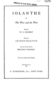 Iolanthe (The Peer and the Peri) : Act I by Sullivan, Arthur