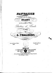 Grand Fantaisie sur l'Opéra 'Beatrice di... Volume Op.49 by Thalberg, Sigismond