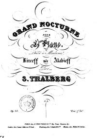 Grand Nocturne, Op.35 No.1 (Grand noctur... Volume Op.35 No.1 by Thalberg, Sigismond