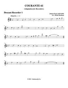 Fünff-stimmigte blasende Music, No.61 : ... by Pezel, Johann Christoph