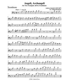 Angeli, Archangeli : Trombone by Gabrieli, Andrea