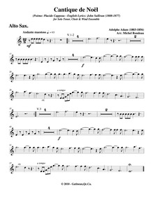Cantique de Noël (Minuit chrétiens) : Al... by Adam, Adolphe