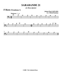 Fünff-stimmigte blasende Music, No.21 : ... by Pezel, Johann Christoph