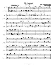 Mass for Four Voices (Messa a 4 voci da ... Volume SV 190 by Monteverdi, Claudio