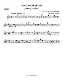 Keyboard Sonata in B-flat major, K.42 : ... Volume K.42 by Scarlatti, Domenico