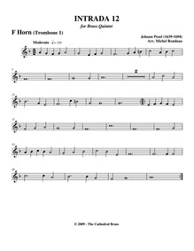 Fünff-stimmigte blasende Music, No.12 : ... by Pezel, Johann Christoph