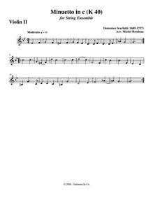 Keyboard Sonata in C minor, K.40 : Violi... Volume K.40 by Scarlatti, Domenico