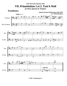 Harmonia Organica : Trombone 1/2 by Kindermann, Johann Erasmus