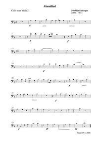 Abendlied (Bleib bei uns) : Cello (alter... by Rheinberger, Josef Gabriel