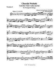 Gott der Vater wohn uns bei : Violin 1 by Krebs, Johann Ludwig