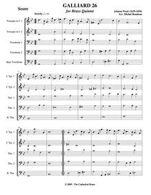 Fünff-stimmigte blasende Music, No.26 : ... by Pezel, Johann Christoph