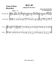 Fünff-stimmigte blasende Music, No.49 : ... by Pezel, Johann Christoph