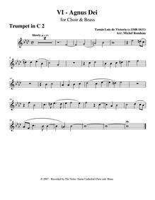 Missa O magnum mysterium : Trumpet 2 by Victoria, Tomás Luis de