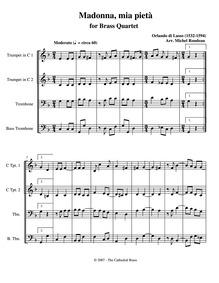 Madonna, mia pietà : Complete score by Lassus, Orlande de