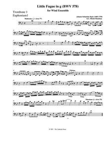 Fugue in G minor (Little Fugue) : Trombo... Volume BWV 578 ; BC.J66 by Bach, Johann Sebastian