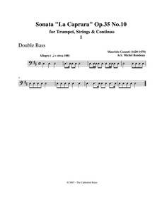 Sonata 'La Caprara', Op.35 No.10 : Basse... Volume Op.35 No.10 by Cazzati, Maurizio
