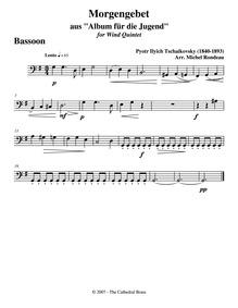 Children'a Album (Детский альбом) : Bass... Volume Op.39 ; TH 141 by Tchaikovsky, Pyotr
