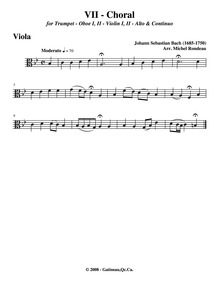 Where Shall I Flee : Violas Volume BWV 5 ; BC A145 by Bach, Johann Sebastian