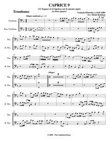 Fugues et Caprices : Trombone 1/2 by Roberday, François