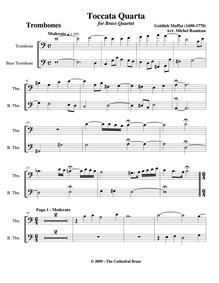 72 Versetl sammt 12 Toccaten : Trombone ... by Muffat, Gottlieb
