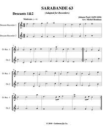 Fünff-stimmigte blasende Music, No.63 : ... by Pezel, Johann Christoph