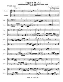 Fugue in C major, Cocq.MSS 363 : Trombon... by Papen, Petrus