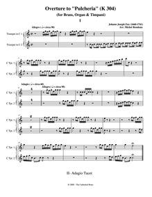 Pulcheria, K.303 : Trumpet 1/2 Volume K.303 by Fux, Johann Joseph