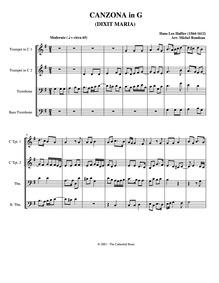 Dixit Maria (motet) : Complete score by Hassler, Hans Leo