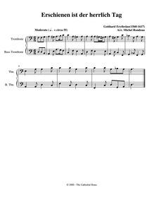 Erschienen ist der herrlich Tag : Trombo... by Erythräus, Gotthard