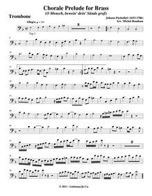 O Mensch bewein dein Sünde gross, P.396 ... Volume P.396 ; (BWV Anh.61) by Pachelbel, Johann