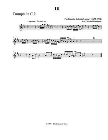 Sonata in D major : Trumpet 2 by Lazzari, Ferdinando Antonio